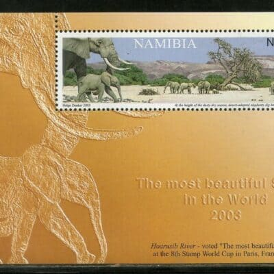 Namibia 2003 Elephant MS MNH – World Most Beautiful Stamp