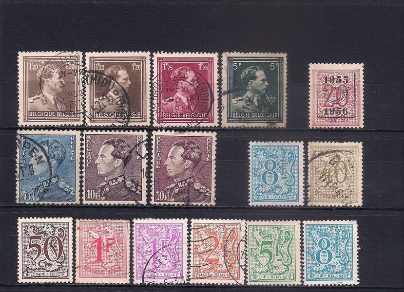 Belgium definitives lot 35 used stamps