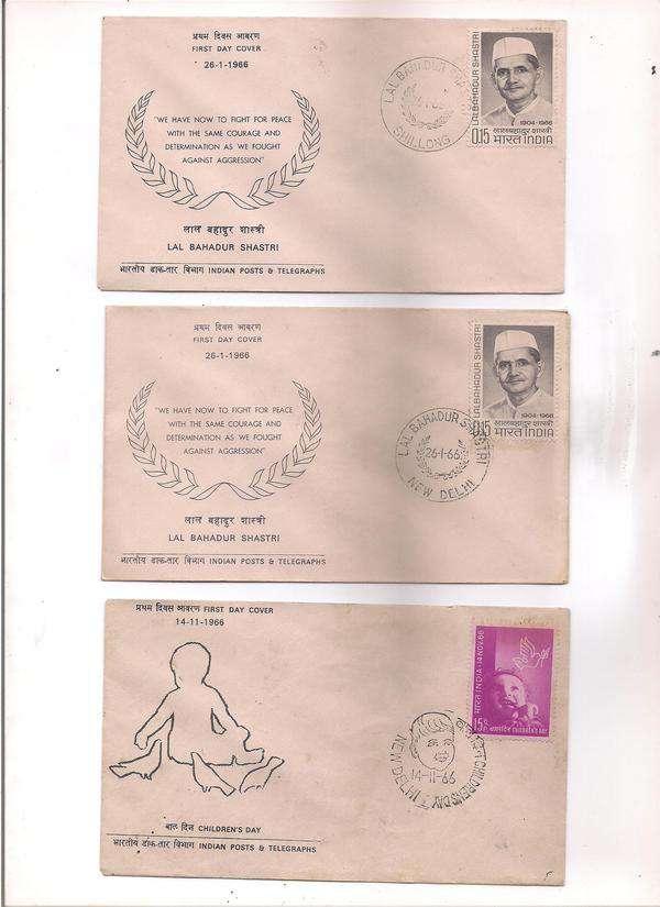 India 6 FDCs 1957-66 period