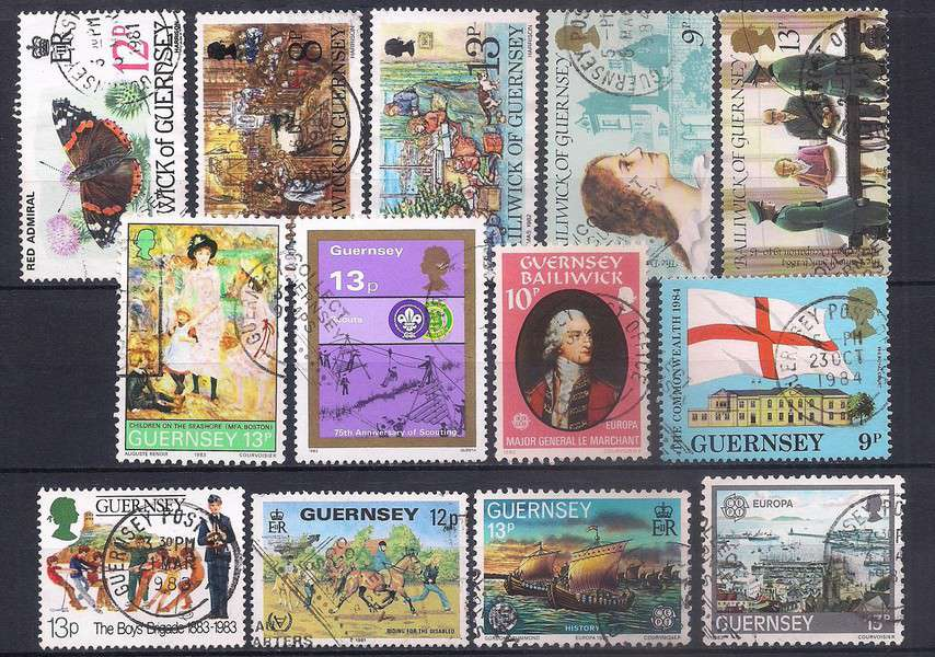 Guernsey used stamps Lot 0880