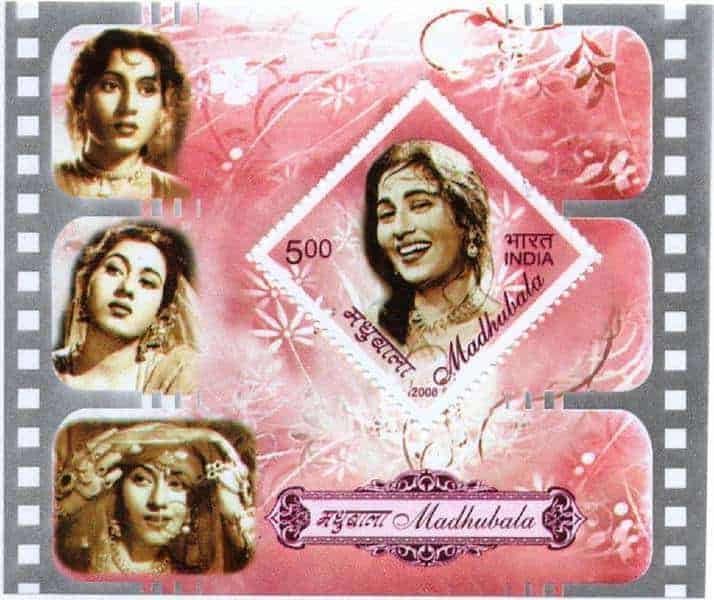 India 2008 Madhubala minisheet