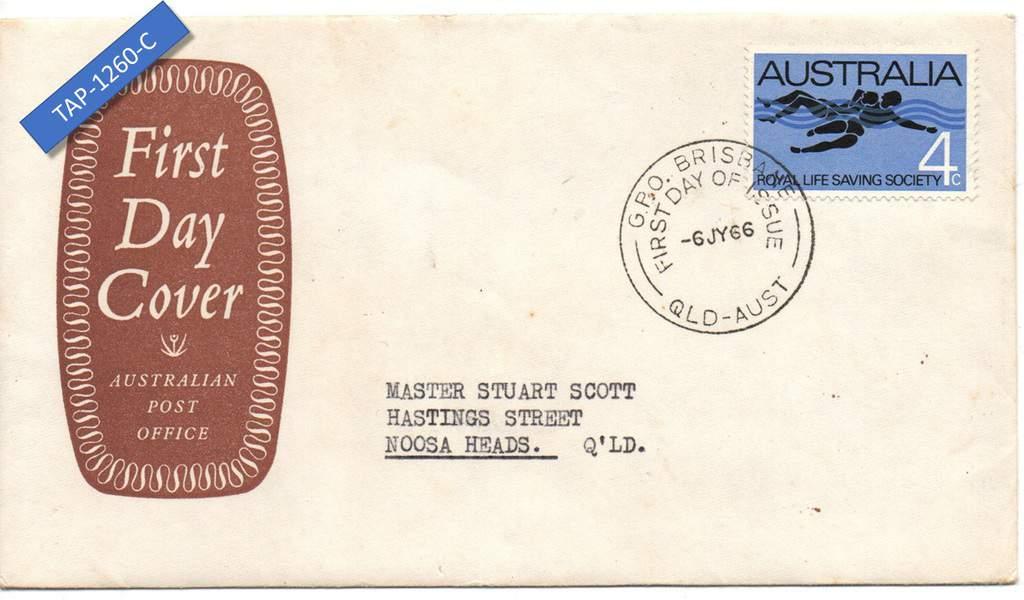 Australia 1966 FDC Royal Life Saving Society