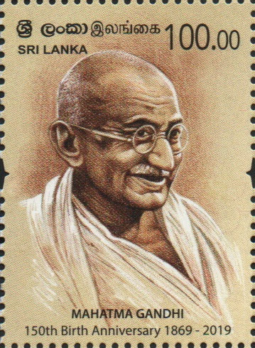 Sri Lanka Gandhi 150 years stamp Pair