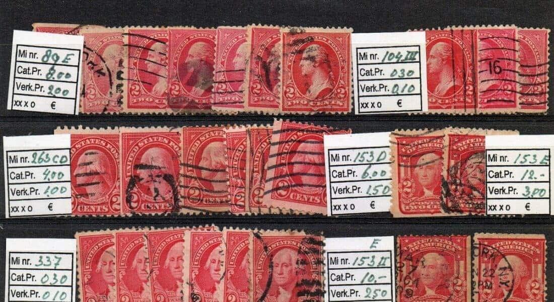 USA old stamp lot, dealer's lot