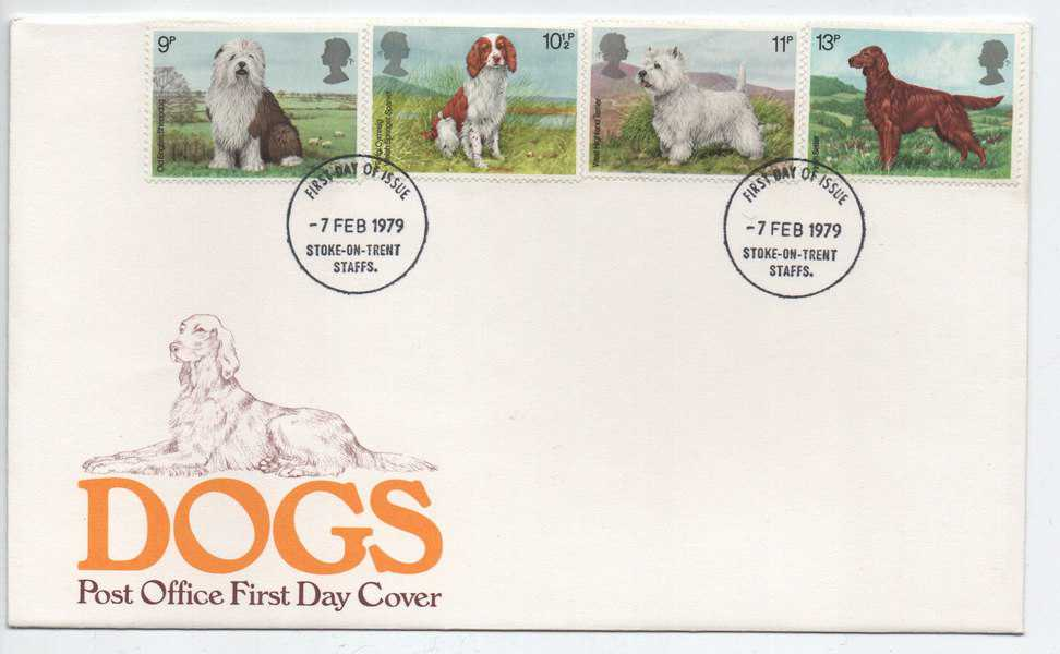 Great Britain 1979 FDC Dogs series