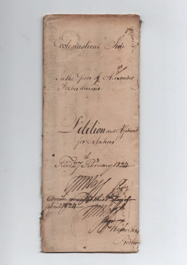 vintage court papers