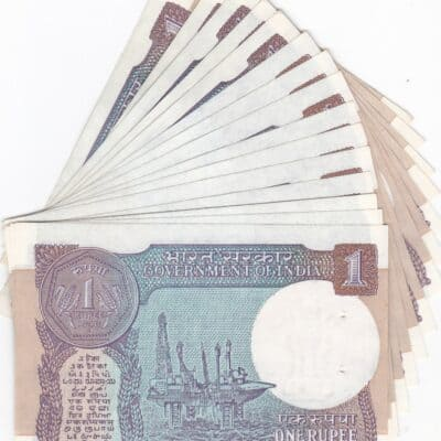 250 PCS 1 RS MIX YEAR MIX GOVERNER UNC VERY FINE EXTRA