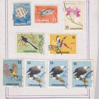 SINGAPORE 1962 VERY FINE USED 18 STAMPS