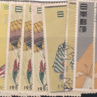 JAPAN 1955 TO 1966 Philatelic Week 25 STAMPS USED AND MINT