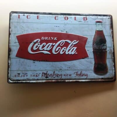 COCA COLA TINPLATE SIGN
