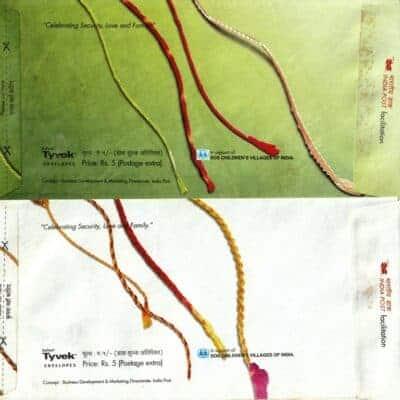 India – Two Unused Rakhi envelopes