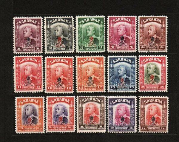 Sarawak 1947 Sir Charles Vyner Brooke - Stamps of 1934-1941 Overprinted