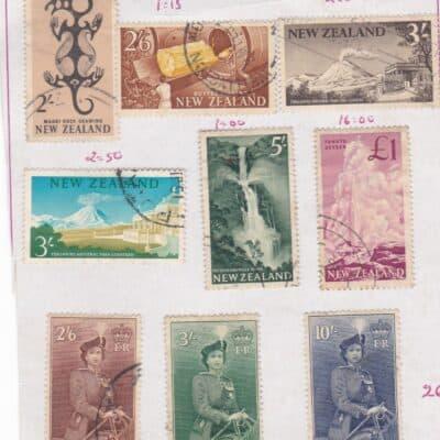 NEW ZEALAND 1954 Queen Elizabeth II AND 1960 SET USED