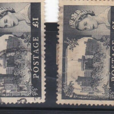 Great Britain 12 stamps used 1 Pound 1959 -1968 British Castles