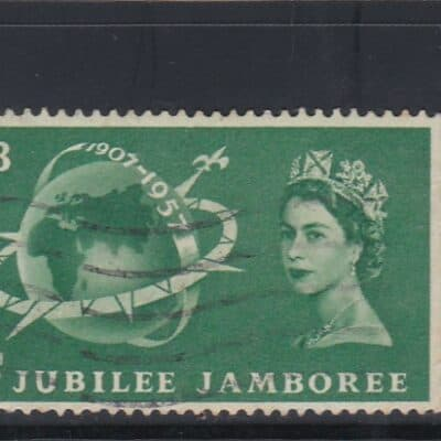 GERAT BRITAIN 1957 4 STAMPS 1/3 S USED SEE PHOTO