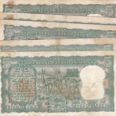 5 RS Diamond Note Sign P C BHATACHRYA, Used