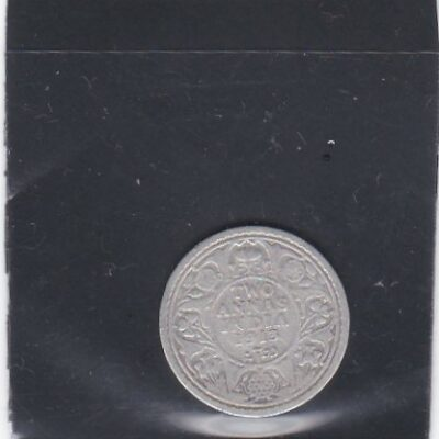 2 Annas King George V 1915 Silver Coin British India Calcutta Mint – Rare