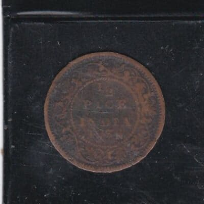 1/2 Pice India 1938 KGV Coin Used