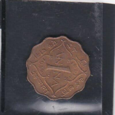 2 Pcs 1 Anna KGVI 1942-1944 coin