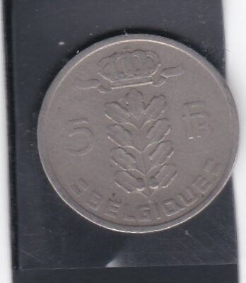 Belgium 5 FR 5 1946 AUNC COIN VERY FINE CONDITION