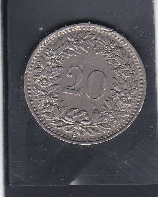 Switzerland 20 rappen, 1945 AUNC VERY FINE CONDITION