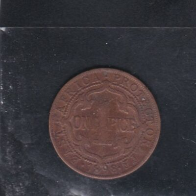 1 Pice Victoria East Africa Protectorate Very fine condition