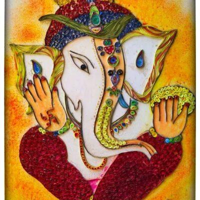 Paper quilling Lord Ganesh by Abhishek Debnath