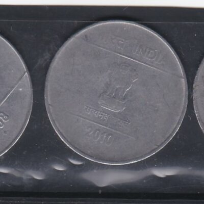 2 RS 3 Different Coins New 2007-2008 AND 2010
