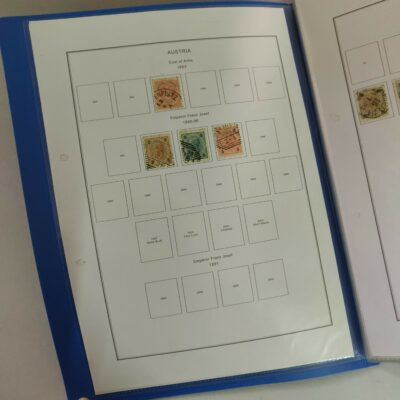 Austria stamp album pages with stamps