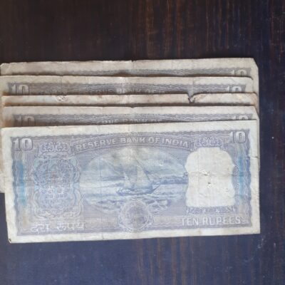 10 RS NOTE USED SIGN PC BHATTACHRYA DIAMOND