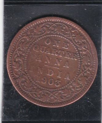 ONE QUARTER ANNA EDWARD VII XF CONDITION 1905 SEE PHOTO