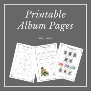 Printable Album Pages