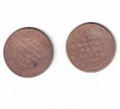 2 COIN KING GEORGE V 1920 USED