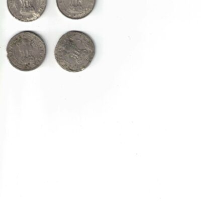 4 COIN 1/2 RS 1951-1954-1954 AND 1956 ALL COIN ERROR