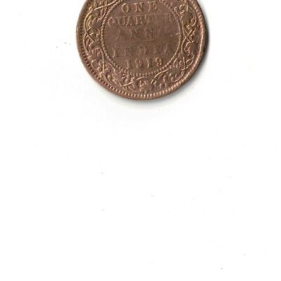 GEORGE V 1919 ONE QUARTER ANNA USED