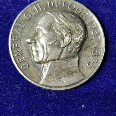 Medal – General G.H. Dufour 1787 – 1875.