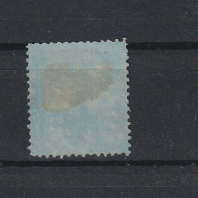 India 8 annas QV on blue paper SG #36 unused, rich color, £1100