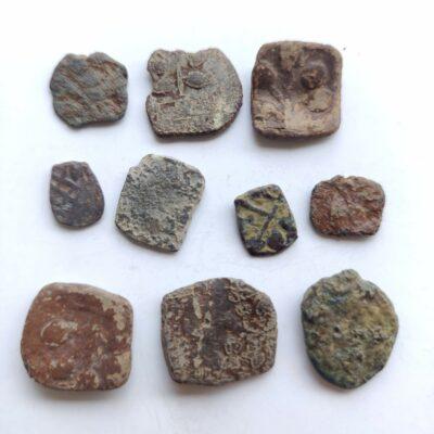 Western Kshatrapas Dāmazāda I horse motif lot of 10 coins