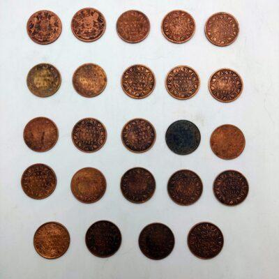 British India Quarter Anna Lot of 24 coins