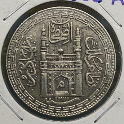 Hyderabad Nizam Mir Mahbub Ali Khan Silver Rupee