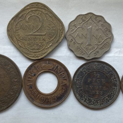 British Indian Copper CN, Brass fractions set