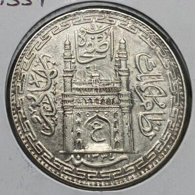 Hyderabad Nizam Mir Usman Ali Khan Silver Rupee