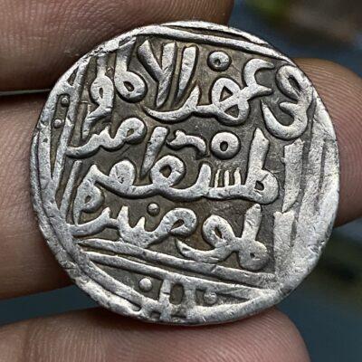 Delhi Sultan Nasir Al Din Mahmud Shah Tuglaq Silver Tanka