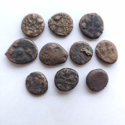 Satvahana Dynasty Elephant motif coins lot of 10 coins