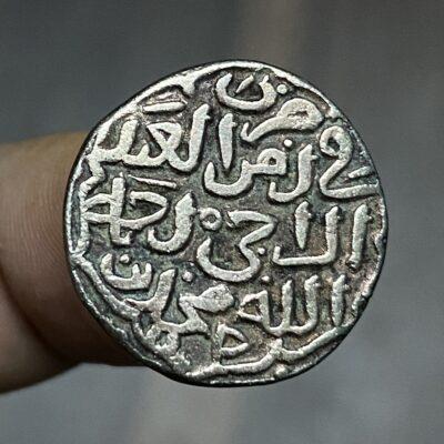 Mohammed Bin Tuglaq Billon Tanka struck INO Abbasid Caliph AL HAQIM
