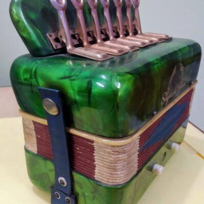 Small Skylark Brand Green Accordion/Squeeze Box-H19