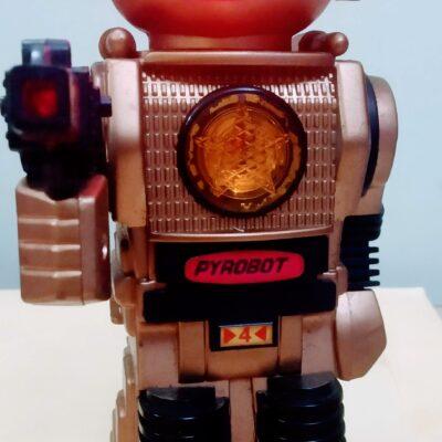 1985 BOTOY Forcebot Gold Laser Red Robot Vintage
