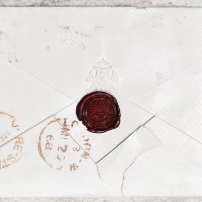 Penny Blue register cover with perfect wax seal