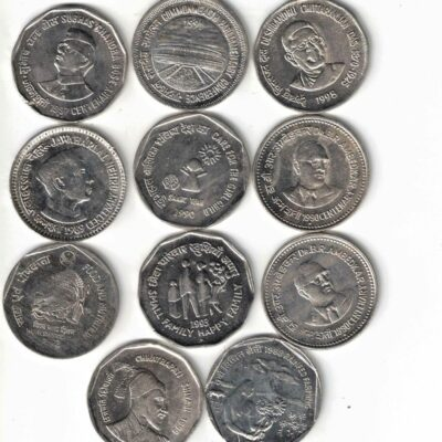 25 COIN XF CONDITION 1RS AND 2RS MIX YEAR ALL DIFFERENT COINS