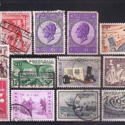 Belgium Used stamps mix lot